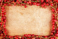 Frame made of red currant Royalty Free Stock Photo