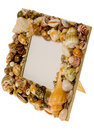 Frame made from seashells Royalty Free Stock Images
