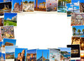 Frame made of Turkey travel images Royalty Free Stock Photo