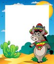 Frame with Mexican donkey Royalty Free Stock Photo