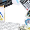 Frame of office supplies the concept buisness Royalty Free Stock Photography