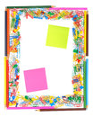 Title: Frame of office supplies