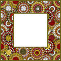 Frame with oriental ornaments Royalty Free Stock Image
