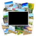 Frame for a photo on the background picture of the nature of the Royalty Free Stock Photo