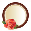 Frame for picture with rose Royalty Free Stock Photo