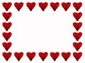 Frame of red hearts Stock Image
