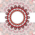 Frame red mandala