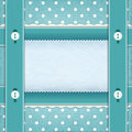 Frame with ribbons and buttons fabric background the idea for scrapbooking Stock Images