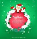 Frame santa and leaf for christmas ,copy space,vector