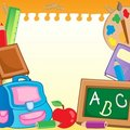 Frame with school supplies 2 Royalty Free Stock Photo
