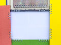 Frame spine colorful calendars isolates overlap space to enter text Royalty Free Stock Image