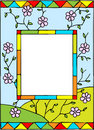 Frame with spring flowers. Royalty Free Stock Photos