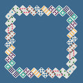 Frame square of dominos in numerical order Royalty Free Stock Photo