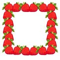 Frame strawberries Royalty Free Stock Photo