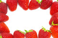 Frame of strawberries Royalty Free Stock Photo