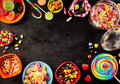 Frame or surround of colorful candy Royalty Free Stock Photo