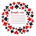 Frame with symbols of playing cards. Royalty Free Stock Photo