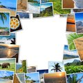 Frame of travel photos Royalty Free Stock Photo