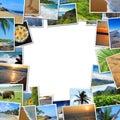 Frame of travel photos Royalty Free Stock Photo