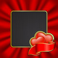 Frame on Valentine`s Day Royalty Free Stock Photography