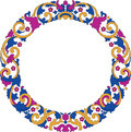 Frame vector illustration of circle color Royalty Free Stock Photography