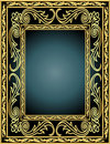 Frame with vegetable gold(en) pattern Stock Images