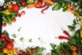 Frame Vegetables Royalty Free Stock Photo
