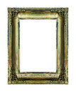 Frame vintage blank picture frame wooden carved isolated on whit Royalty Free Stock Photo
