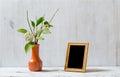 Frame on white table Royalty Free Stock Photo