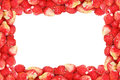 Frame of wild strawberry isolated on a white background Royalty Free Stock Photo