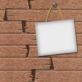 Frame on a wooden background Royalty Free Stock Photo
