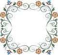 Frame wreath Royalty Free Stock Photography