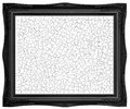 Framed blank jigsaw completed white inside black frame Royalty Free Stock Image