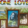 Framed Bob Marley portraits in Jamaican Bar Royalty Free Stock Photo
