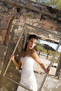Framed Bride Royalty Free Stock Photos