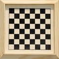 Framed checkers or chess board. Royalty Free Stock Photo
