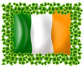 A framed flag of ireland illustration on white background Stock Images
