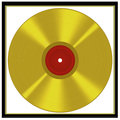 Framed gold disc - music award style Stock Photo