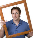 Framed Man Stock Images