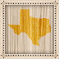 Framed map of Texas Stock Photo