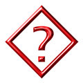 Framed Question Mark Stock Photography