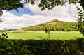 Framed Roseberry Topping Royalty Free Stock Photo