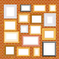 Frames on brickwall Royalty Free Stock Photos