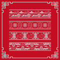 The frames of chinese style some lines and patterns are made longevity and good fortune text symbols are Stock Photos