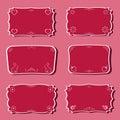 Frames do Femininity ajustados. Fotografia de Stock