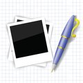 Frames and pen colorful illustration with for your design Stock Image