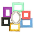 Frames for photo and picture. vintage style framework Royalty Free Stock Photo