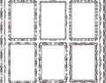 Frames rectangular set of and borders Stock Photos