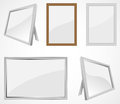 Frames set of realistic photo illustration Royalty Free Stock Photos