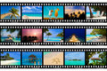 Frames van film - aard en reis (mijn foto's) Stock Foto